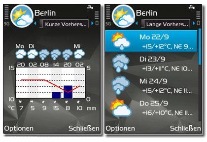 نرم افزار هواشناسی Foreca ForecaWeather v1.4.4